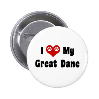 I Love My Great Dane 6 Cm Round Badge