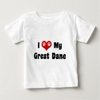 I Love My Great Dane Baby T-Shirt