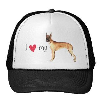 I Love my Great Dane Mesh Hat