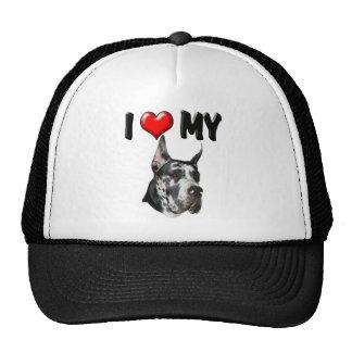 I Love My Great Dane Cap