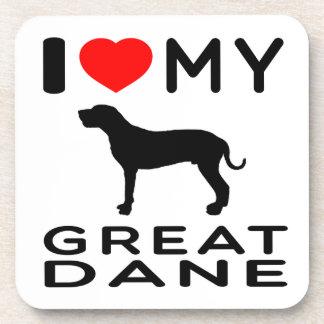I Love My Great Dane Coaster