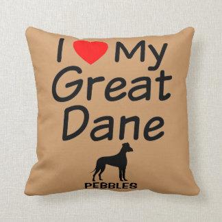 I Love My Great Dane Cushions