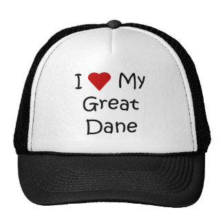 I Love My Great Dane Dog Breed Lover Gifts Trucker Hats