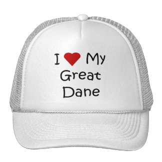 I Love My Great Dane Dog Breed Lover Gifts Mesh Hat