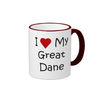 I Love My Great Dane Dog Breed Lover Gifts Coffee Mug