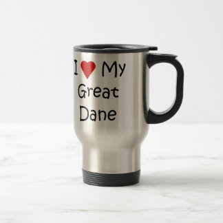 I Love My Great Dane Dog Breed Lover Gifts 15 Oz Stainless Steel Travel Mug
