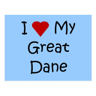 I Love My Great Dane Dog Breed Lover Gifts Postcard