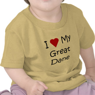 I Love My Great Dane Dog Breed Lover Gifts Tshirts