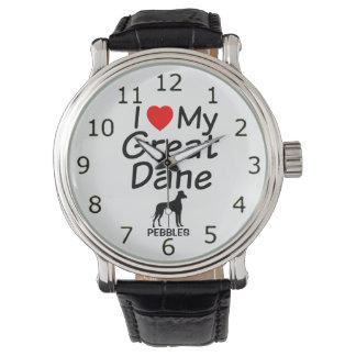 I Love My Great Dane Dog Watch