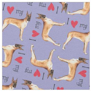 I Love my Great Dane Fabric