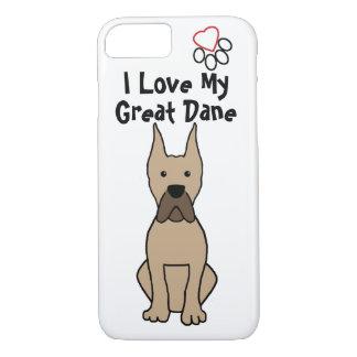 I Love My Great Dane iPhone 7 Case