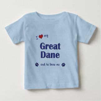 I Love My Great Dane (Male Dog) T Shirt