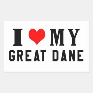 I Love My Great Dane Stickers