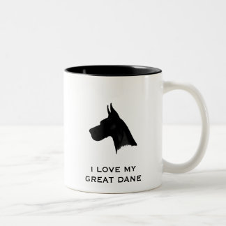 I LOVE MY GREAT DANE Two-Tone COFFEE MUG