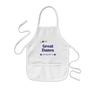 I Love My Great Danes (Multiple Dogs) Kids Apron