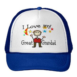 I Love My Great Grandad Cap