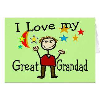 I Love My Great Grandad Card
