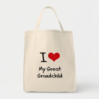 I Love My Great Grandchild Grocery Tote Bag