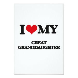I love my Great Granddaughter 9 Cm X 13 Cm Invitation Card