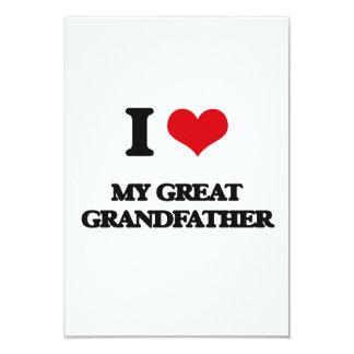 I Love My Great Grandfather 9 Cm X 13 Cm Invitation Card
