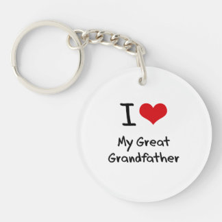 I Love My Great Grandfather Double-Sided Round Acrylic Key Ring