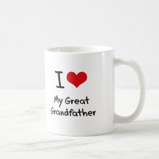 I Love My Great Grandfather Coffee Mugs