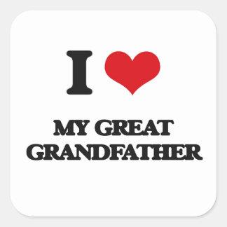 I Love My Great Grandfather Square Sticker