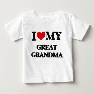 I love my Great Grandma Baby T-Shirt