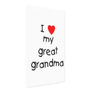 I love my great grandma gallery wrap canvas