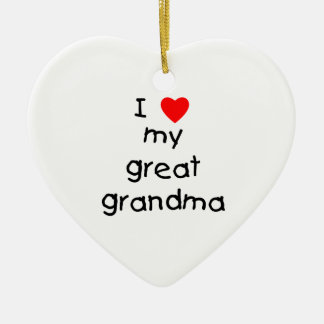 I love my great grandma ceramic heart decoration