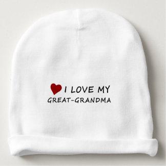 I Love My Great-Grandma with Heart Baby Beanie