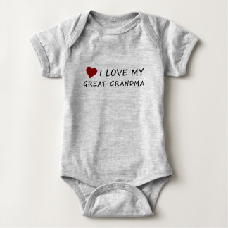 I Love My Great-Grandma with Heart Baby Bodysuit