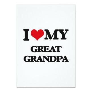 I love my Great Grandpa 9 Cm X 13 Cm Invitation Card