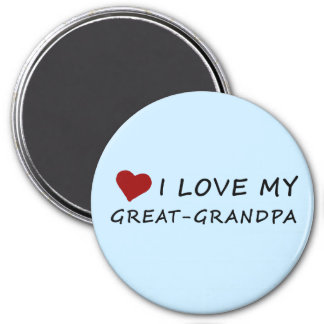 I Love My Great-Grandpa with Heart Magnet