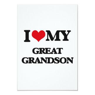 I love my Great Grandson 9 Cm X 13 Cm Invitation Card