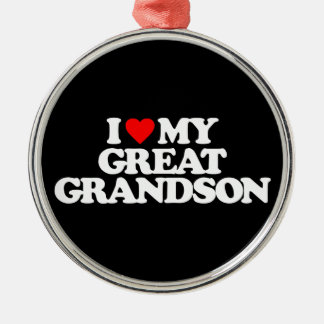 I LOVE MY GREAT GRANDSON CHRISTMAS ORNAMENT