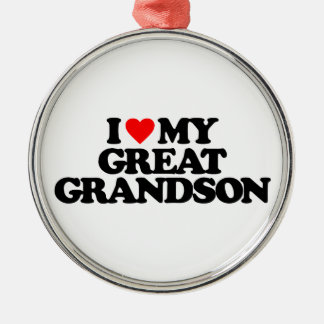 I LOVE MY GREAT GRANDSON CHRISTMAS ORNAMENT