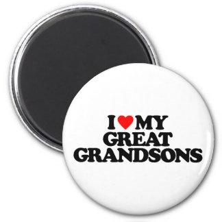I LOVE MY GREAT GRANDSONS FRIDGE MAGNETS