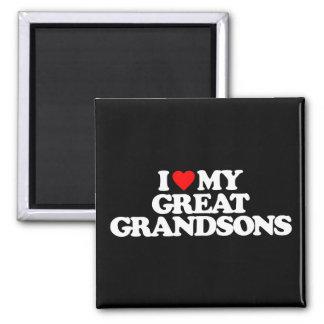 I LOVE MY GREAT GRANDSONS FRIDGE MAGNET