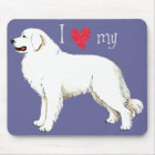 I Love my Great Pyrenees Mouse Mat