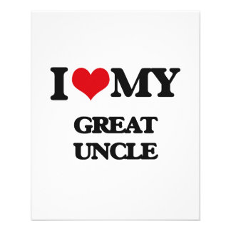 I love my Great Uncle 11.5 Cm X 14 Cm Flyer