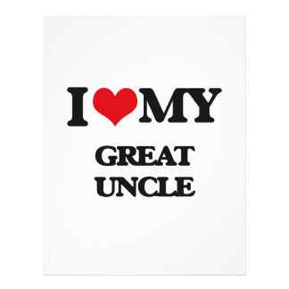 I love my Great Uncle 21.5 Cm X 28 Cm Flyer