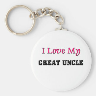 I Love My Great Uncle Key Ring