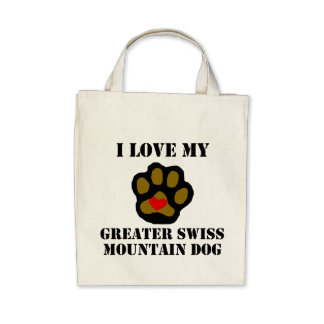 I Love My Greater Swiss Mountain Dog Canvas Bags