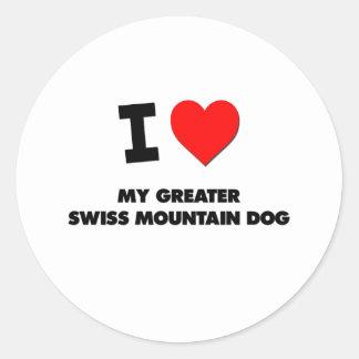 I Love My Greater Swiss Mountain Dog Classic Round Sticker