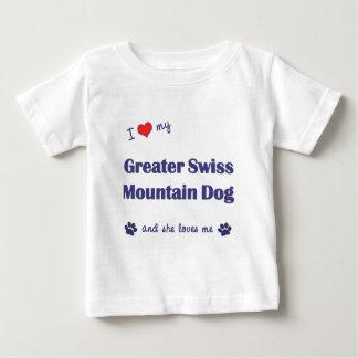 I Love My Greater Swiss Mountain Dog (Female Dog) T Shirts