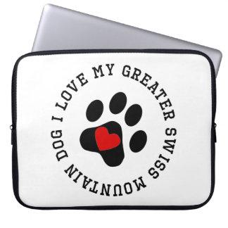 I Love My Greater Swiss Mountain Dog Computer Sleeve