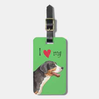 I Love my Greater Swiss Mountain Dog Luggage Tags