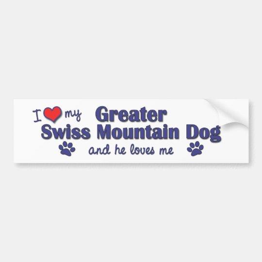 I Love My Greater Swiss Mountain Dog (Male Dog) Bumper Sticker