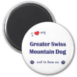I Love My Greater Swiss Mountain Dog (Male Dog) Refrigerator Magnets